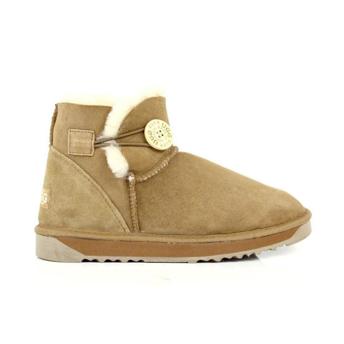 UGG Button Ankle Boots Mini - Chestnut - AU Women 5 / Men 3