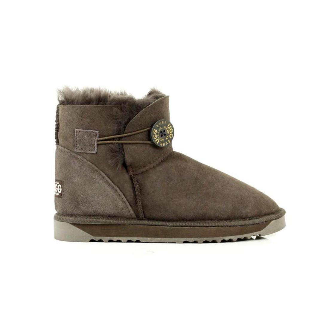 UGG Button Ankle Boots Mini - Chocolate - AU Women 7 / Men 5