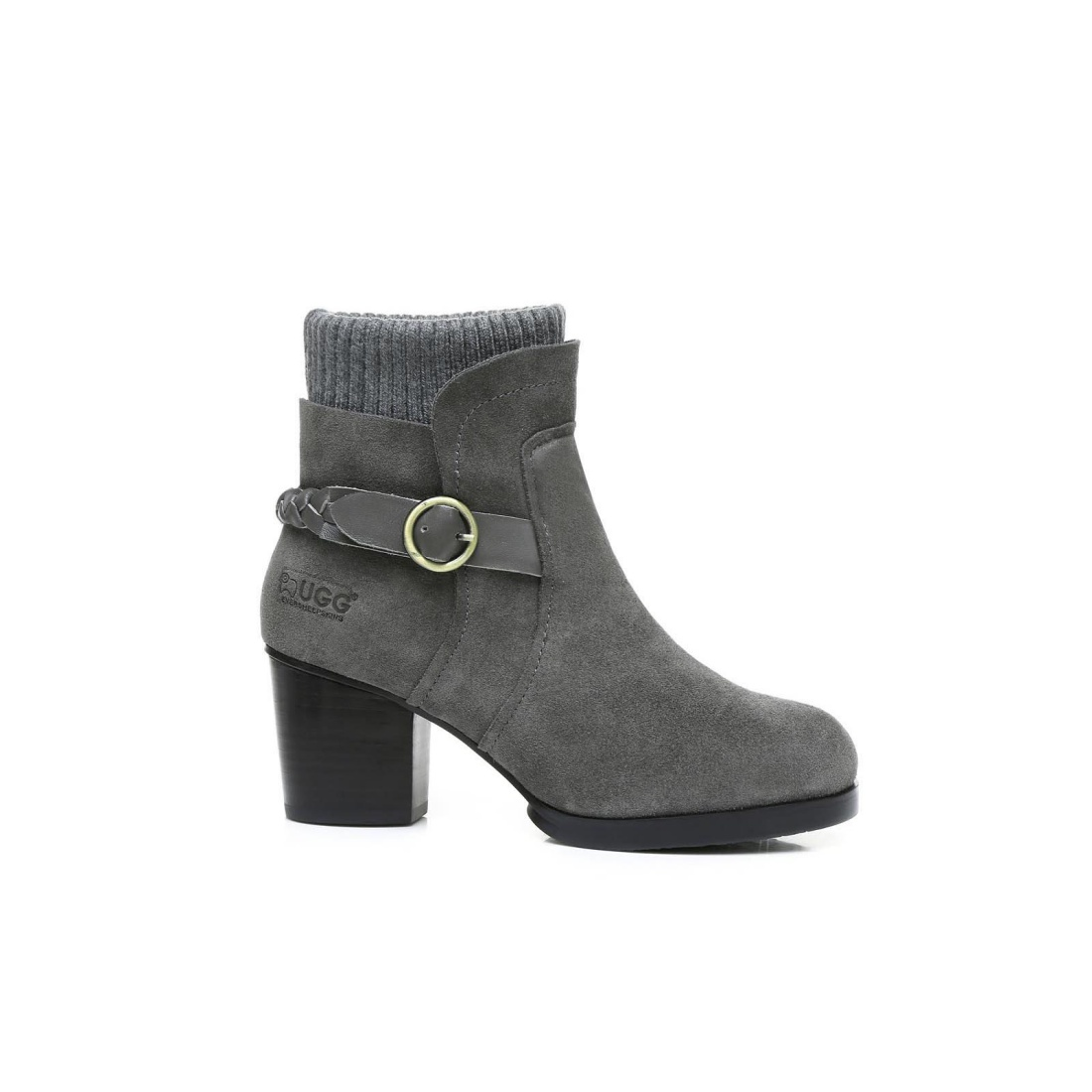 UGG High Heel Boots - Grey - AU Women 4 / Men 2