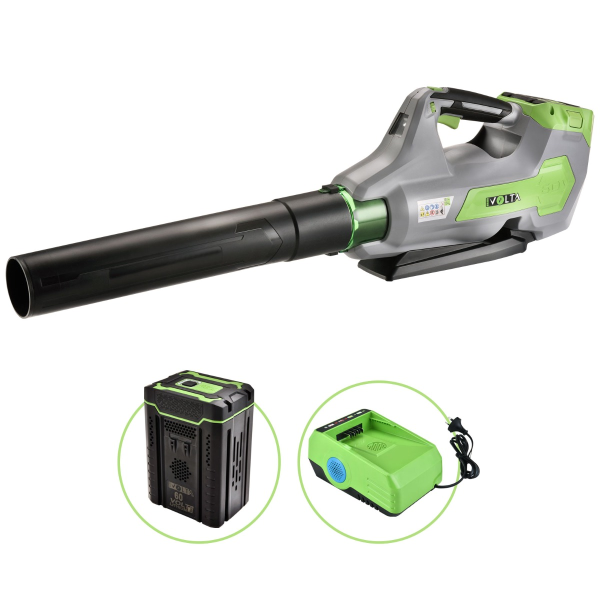 Neovolta 60V Cordless Brushless Blower Kit Lithium Ion Handheld
