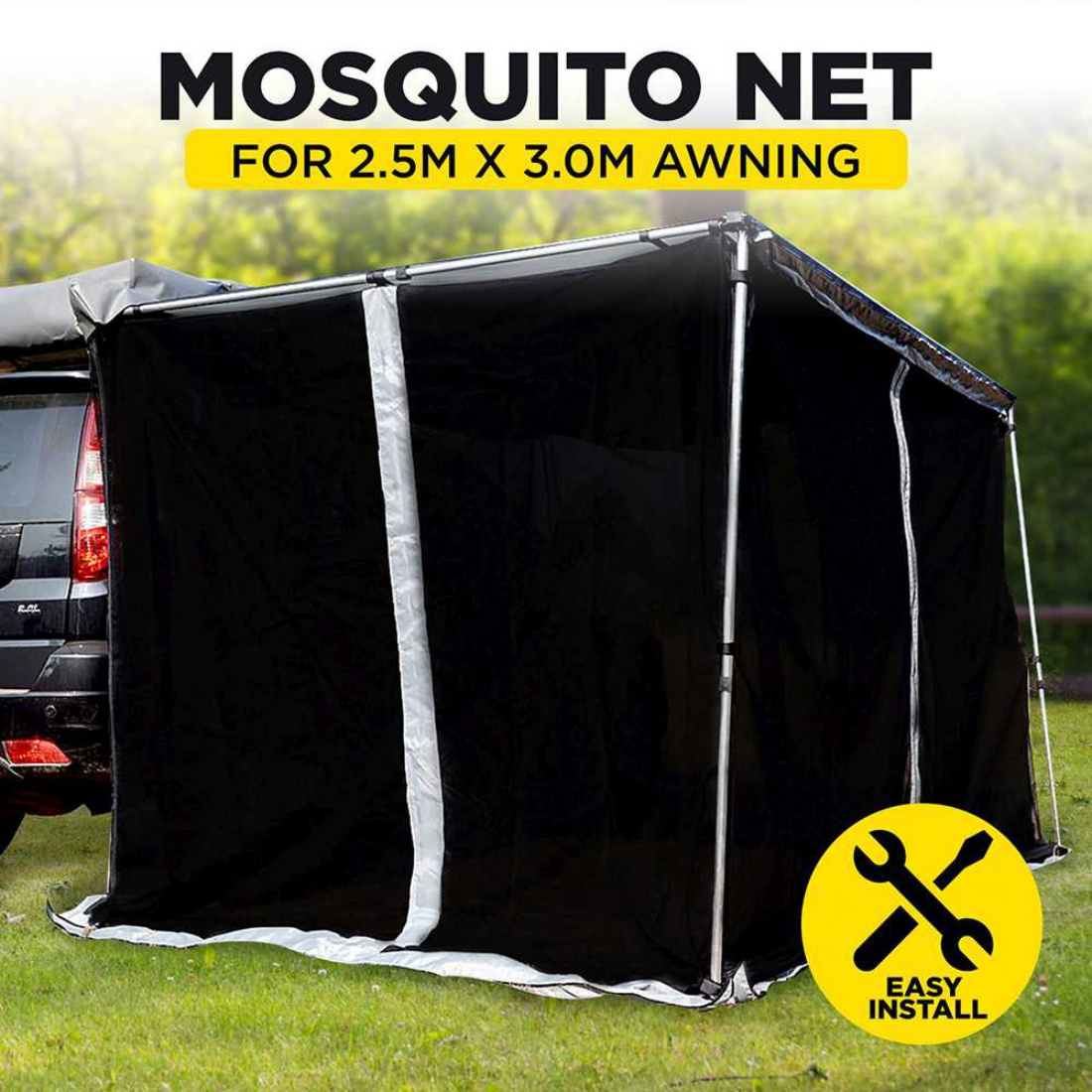 New Car Awning Mosquito Net Mesh Tent Shade Car Roof Top 4wd 4x4 2.5 x 3 Camping