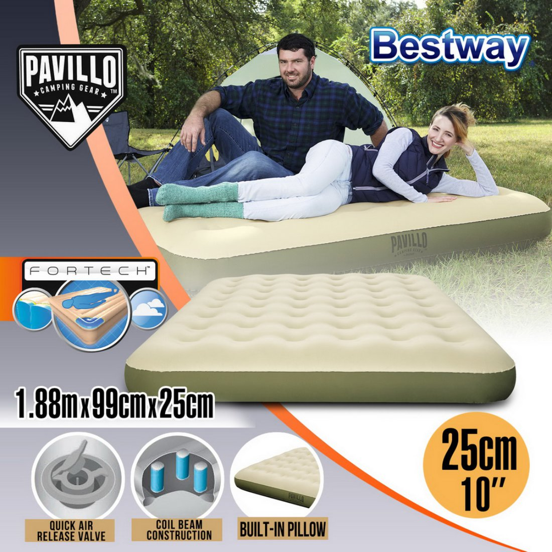 Bestway Twin Queen Air Bed Inflatable Mattress Sleeping Mat Camping Outdoor