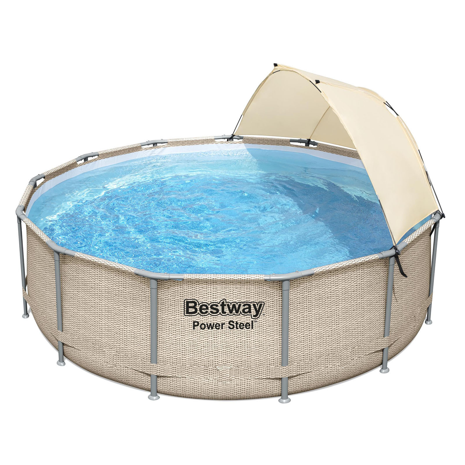 Bestway Above Ground Pool Swimming Pool Power Steel Frame Pools Canopy 3.96m