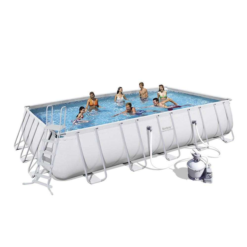 Bestway Steel Pro™ - Rectangle 6.7m x 3.7m Above Ground Pool - With Filter Kit
