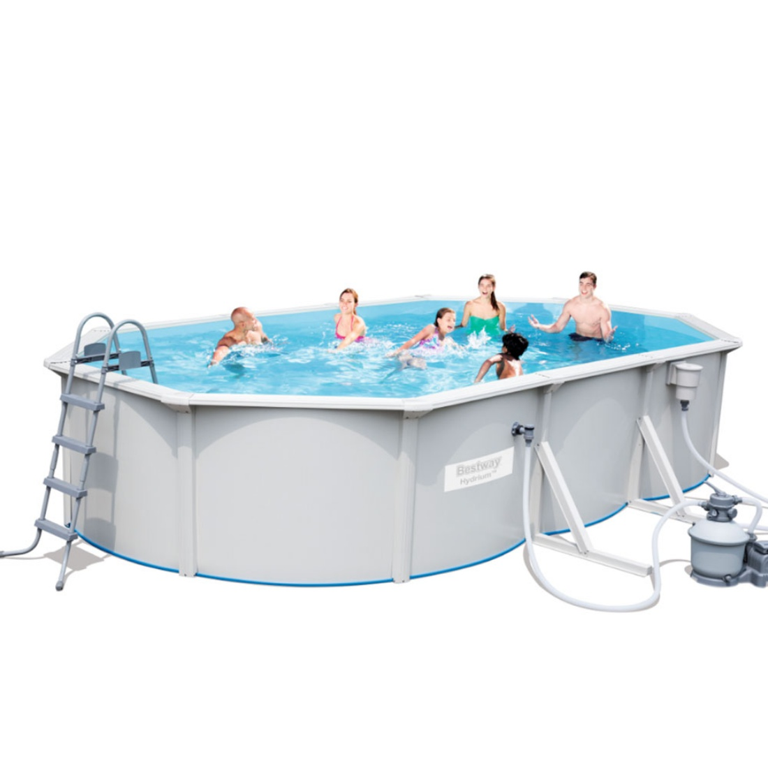 Bestway Hydrium™ - Rectangle 6.1m x 3.6m Above Ground Pool - With Filter Kit