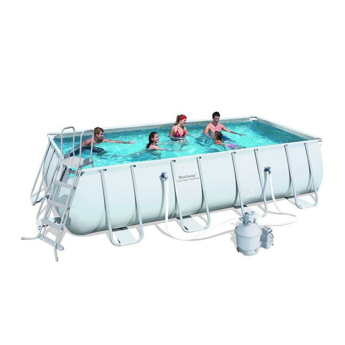 Bestway Steel Pro™ - Rectangle 5.5m x 2.7m Above Ground Pool - With Filter Kit