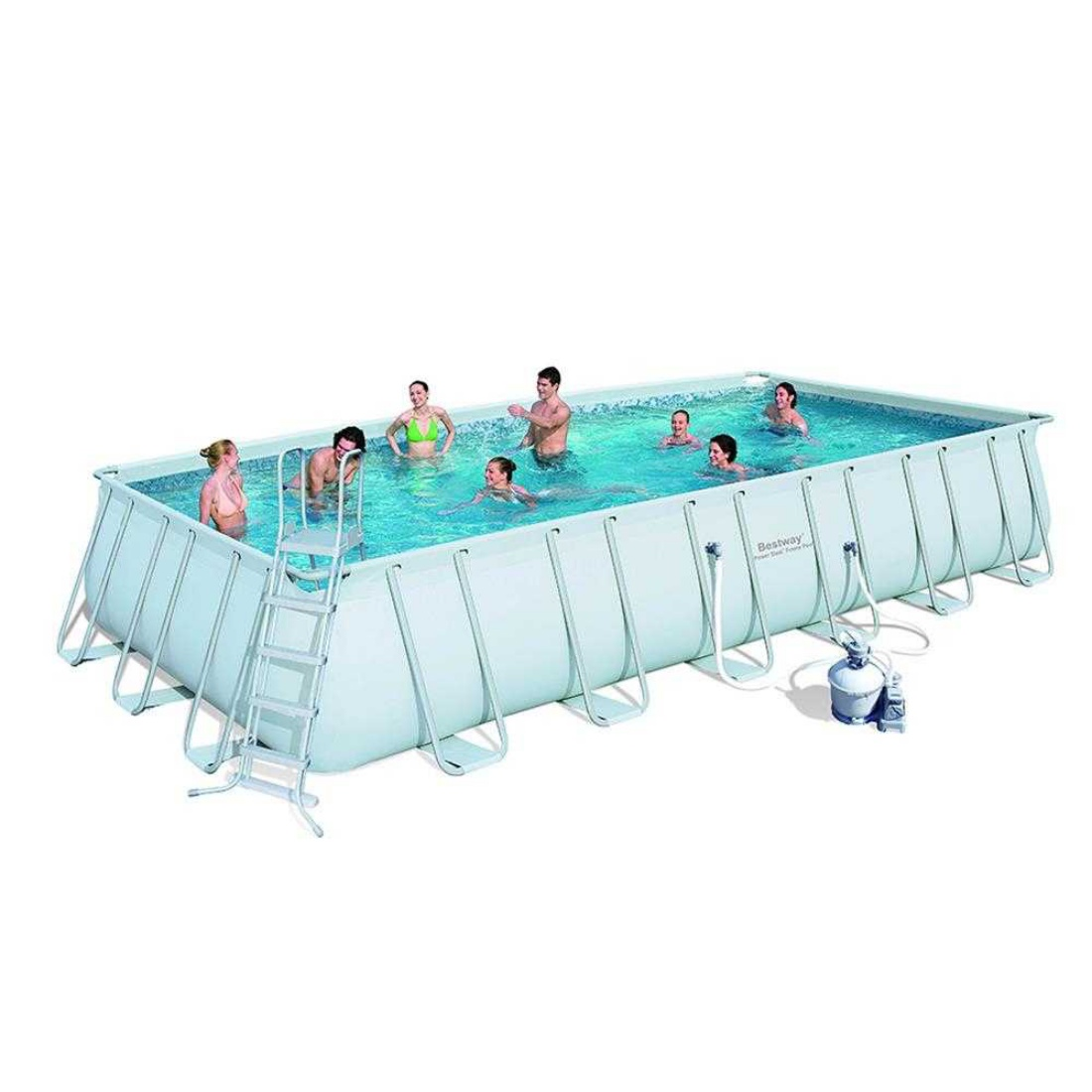 Bestway Steel Pro™ - Rectangle 7.3m x 3.7m Above Ground Pool - With Filter Kit