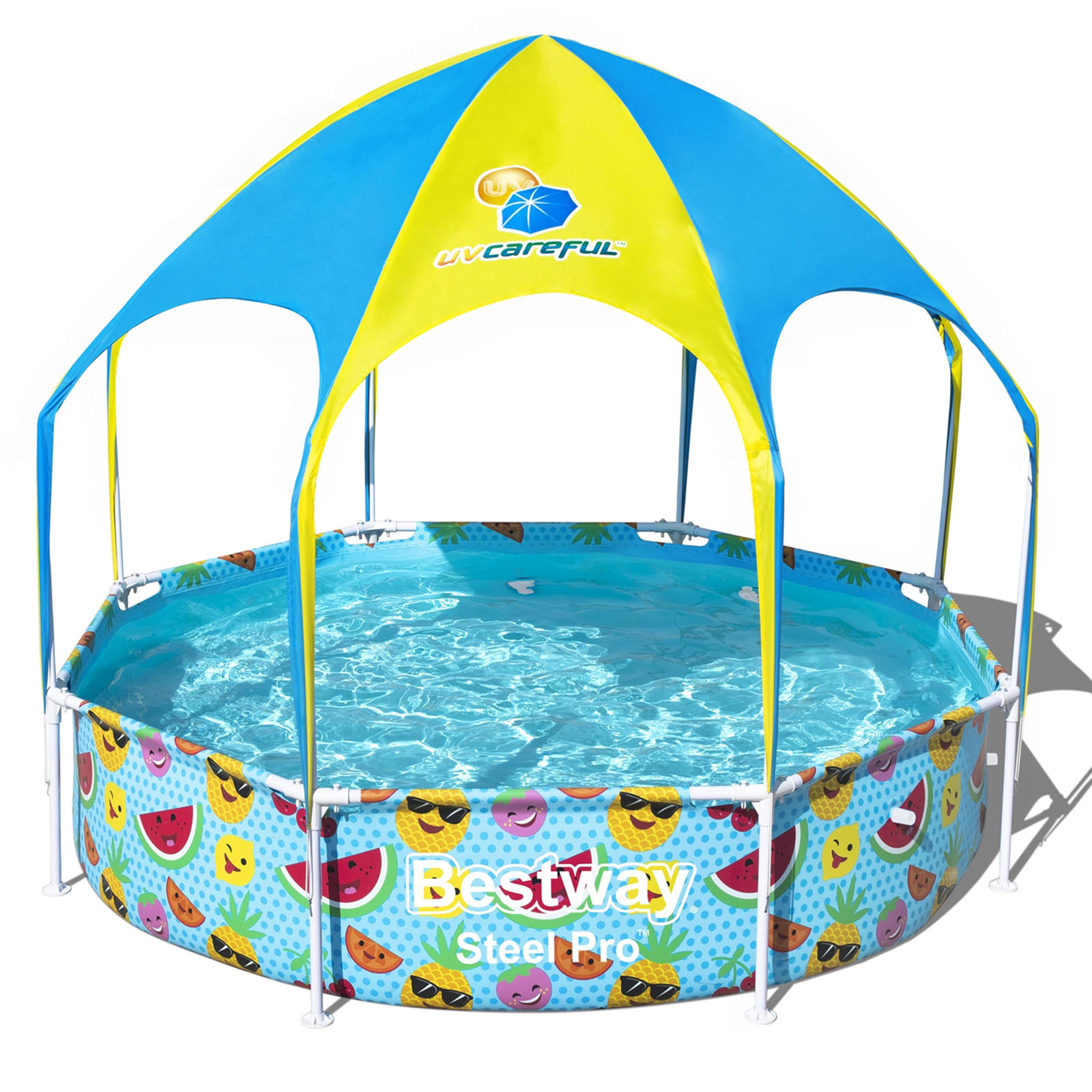 Bestway Above Ground Pool Swimming Pool UV Splash In Shade Kids 2.44m x 51cm