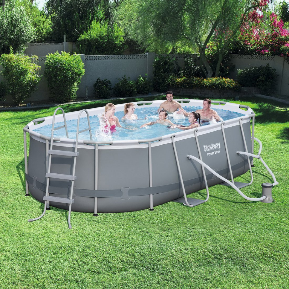 Bestway Power Steel Oval Pool Set 4.24m x 2.50m x 1.00m