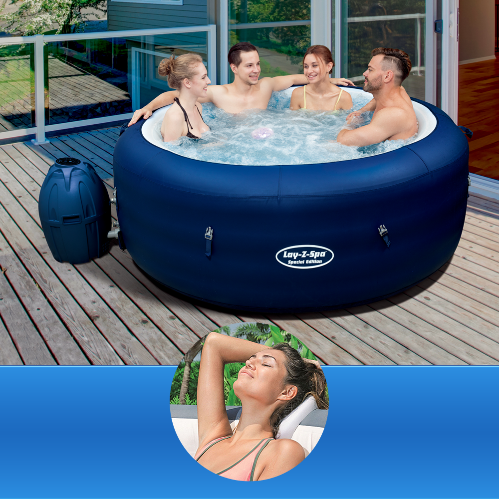Bestway Lay-Z Spa SAINT TROPEZ + Pillow