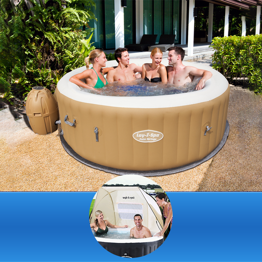 Bestway Lay-Z-Spa PALM SPRINGS + Shelter