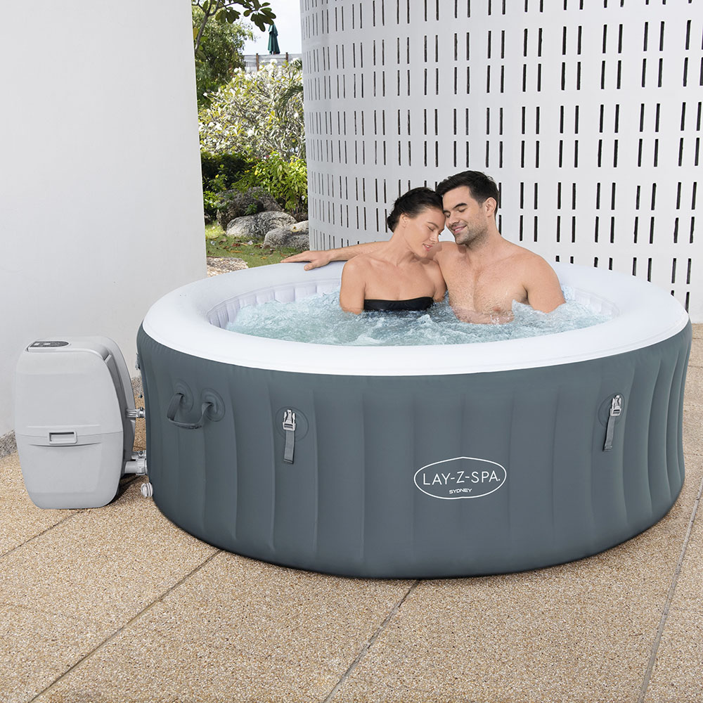 Bestway Lay-Z-Spa SYDNEY - Heated Hot Tub Spa Massage - Built in LED - 120 Jets - 2 to 4 People