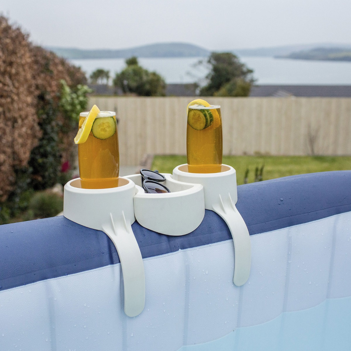 Bestway Lay-Z-Spa Accessories Hot Tub Drink 2 X Cup Snack Tray Holder Stand