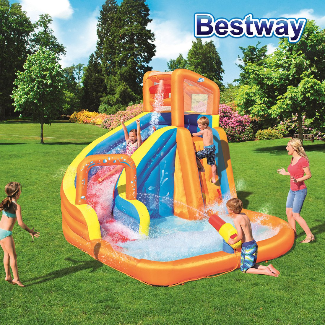Bestway Water Park Lagoon - Turbo Splash Water Zone - Mega Fun Kids Pool Slide