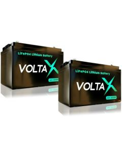 2 x VoltaX 12V 105Ah Lithium Battery - LiFePO4 - Fast Charge - Latest Most Efficient Tech