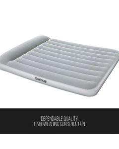 Bestway Queen Size Aerolax Indoor Airbed, Built-in Pillow & Built-in Pump