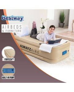 Bestway Alwayzaire Comfort Choice Fortech Inflatable Air Bed Twin Built-in Pump