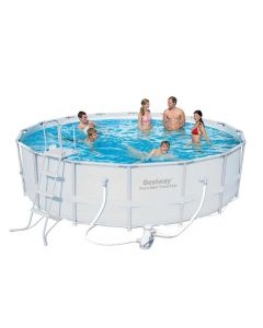 Bestway Steel Pro™ - Round 4.9m Above Ground Pool - With Filter Kit