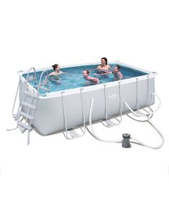 Bestway Steel Pro™ - Rectangle 4.1m x 2m Above Ground Pool - With Filter Kit