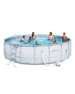 Bestway Steel Pro™ - Round 5.5m Above Ground Pool - With Filter Kit