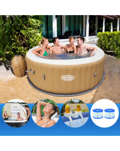 Bestway Lay-Z-Spa PALM SPRINGS + Shelter + Pillow + Cup + 2 Additional Filters