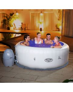 Bestway Lay-Z-Spa PARIS - Heated Hot Tub Spa Massage - Built in LED - 87 Jets - 4 to 6 People
