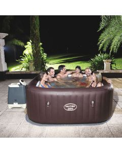 Gigantic! Bestway Lay-Z-Spa MALDIVES - Heated Hot Tub Spa Massage - Built in LED - 8 Hydro Jets + 140 Jets - 5 to 7 People
