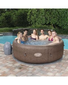 Gigantic! Bestway Lay-Z-Spa ST. MORITZ - Heated Hot Tub Spa Massage - 140 Jets - 5 to 7 People