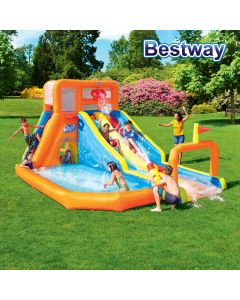 Bestway Water Park Lagoon - Tsunami Waves Summit - Mega Fun Kids Pool Double Slide
