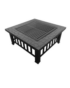 32x32 Inch Square Fire Pit BBQ Table Grill Fireplace