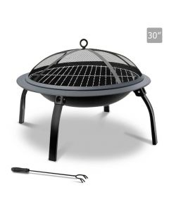 30 Inch Portable Foldable Outdoor Fire Pit Fireplace Camping or Backyard