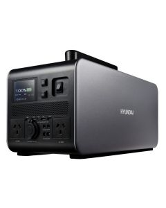 Hyundai 1000W / 2000W max Lithium Power Station AC/DC - 100Ah Battery