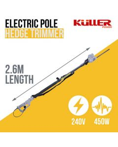 240V Electric Pole Hedge Trimmer Outdoor Backyard Garden Power Tools Long Reach