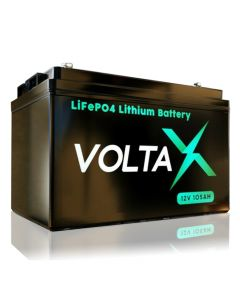 VoltaX 12V 105Ah Lithium Battery - LiFePO4 - Fast Charge - Latest Most Efficient Tech