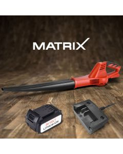 Matrix 20V Cordless Leaf Blower 4.0ah Battery Charger Portable Yard Garden Tool