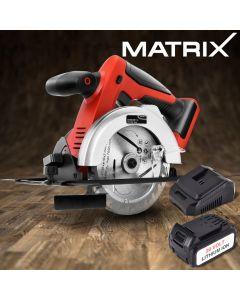 NEW Matrix 20V Cordless Circular Saw 4.0ah Lithium Battery Charger Cutting Tool