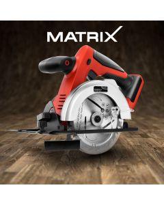 Matrix 20V Cordless Circular Saw 136mm Lithium Electric Power Tool Skin Only