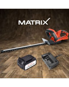 Matrix 20V Cordless Hedge Trimmer 4.0ah Li-lon Battery Charger Yard Garden Tool