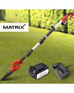 Matrix 20V Cordless Pole Blower Head Attachment 4.0ah Lithium Battery Charger