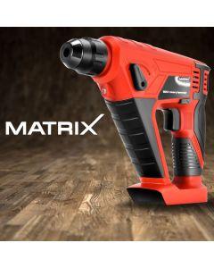 Matrix Cordless Rotary Hammer Drill 20V Li-Ion Electric Power Tool Skin Only