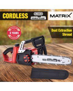 Matrix 40V Cordless Chainsaw 355MM Bar Oregon Lithium Saw Tool Skin Only