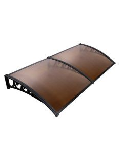 Window Awning DIY 1m x 2m Brown For UV Sun and Rain Outdoor Protection Cover
