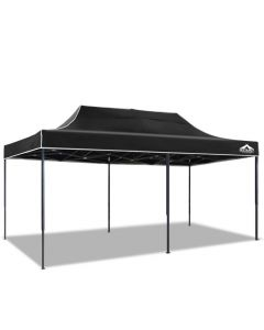 3m x 6m Pop-up Garden Outdoor Gazebo Black