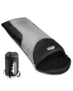Camping Envelope Sleeping Bag Single Grey black