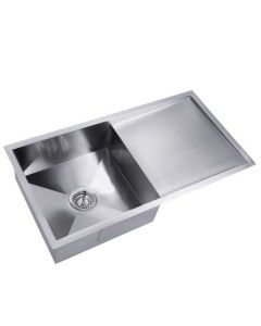 Stainless Steel Kitchen/Laundry Sink w/ Strainer Waste 870x450mm