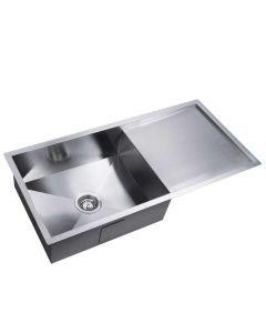 Stainless Steel Kitchen/Laundry Sink w/ Strainer Waste 960x450mm