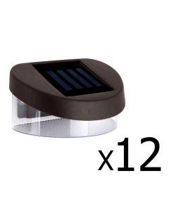 Set of 12 Solar Fence Lights Solar Lights