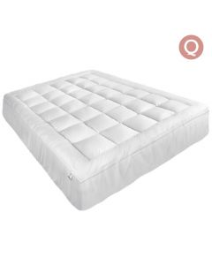 Queen Pillowtop Mattress Topper Memory Resistant Protector Pad Cover
