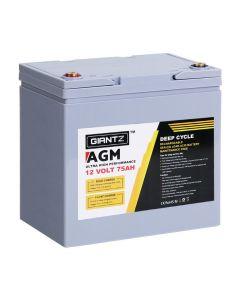12V 75AH Amp Hour Battery AGM Deep Cycle 12 Volt
