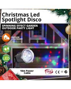 LED Spotlight Disco Spinning Effect Garden Outdoor Christmas Party Light